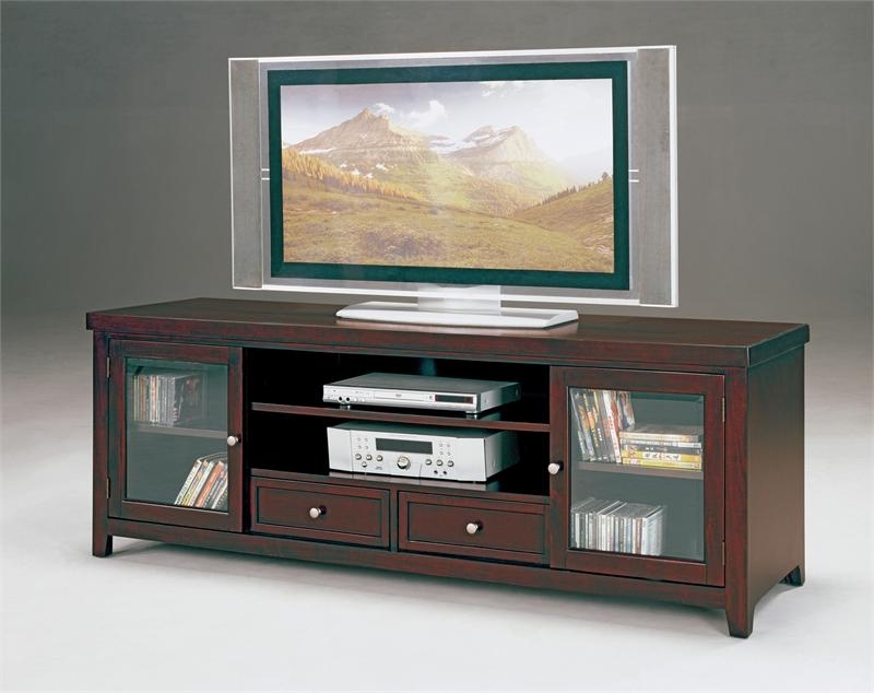 Amazing Elite Brown TV Stands Intended For Norris 72 Tv Stand (View 8 of 45)