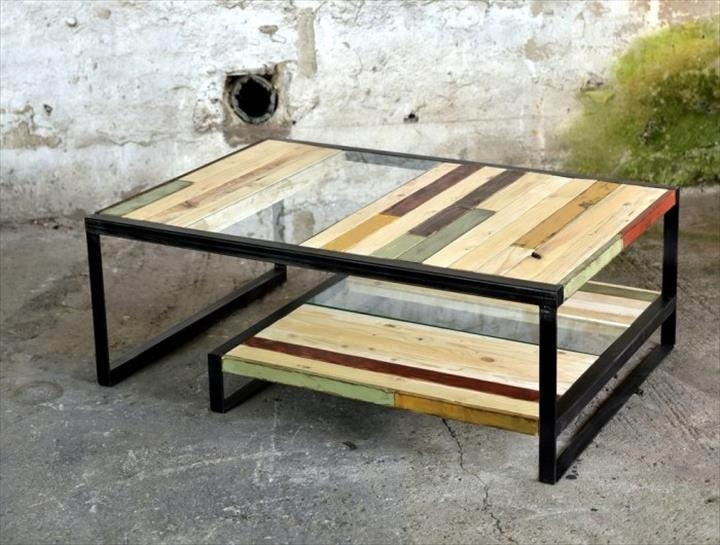 Amazing Elite Glass And Metal Coffee Tables For Pallet Metal And Glass Coffee Table 101 Pallets (Image 4 of 50)