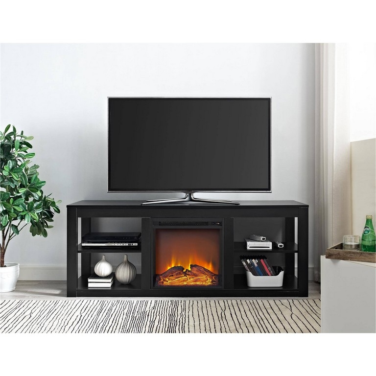 Amazing Elite Large Oak TV Stands For Oak Fireplace Tv Stand Combo (Image 2 of 50)