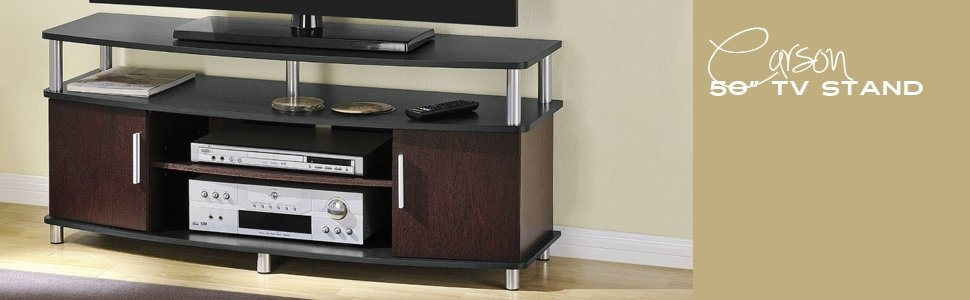 Amazing Elite Light Cherry TV Stands Within Amazon Ameriwood Home Carson Tv Stand For Tvs Up To 50 Inches (Image 1 of 50)