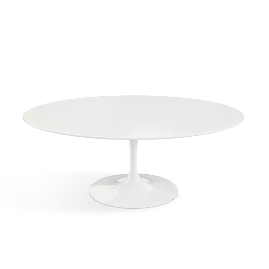 Amazing Elite Oval White Coffee Tables For Saarinen Coffee Table 42 Oval Knoll (Image 1 of 50)