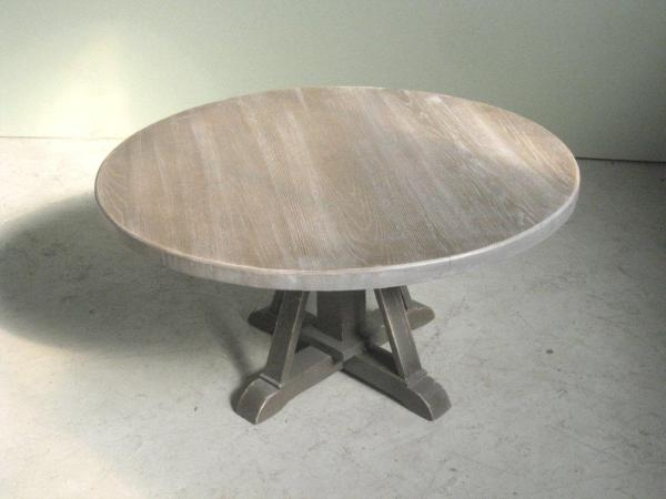 Amazing Elite Round Oak Coffee Tables Throughout Reclaimed Round Oak Coffee Table Lake And Mountain Home (Image 1 of 40)