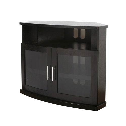 Amazing Elite Small Black TV Cabinets Regarding Small Black Corner Tv Stand Bellacor (Image 2 of 50)