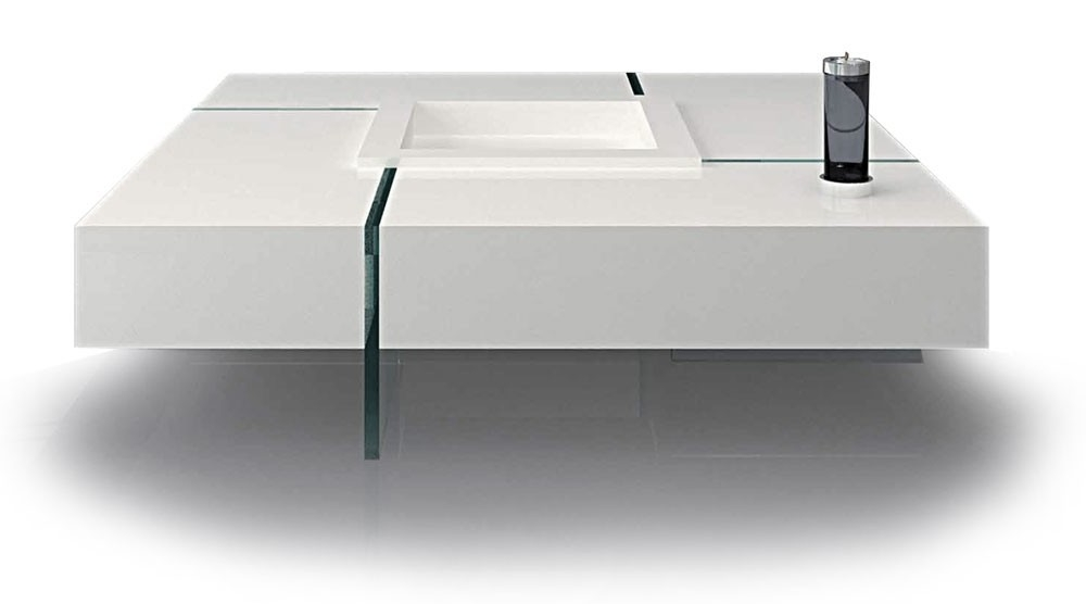 Amazing Elite Square White Coffee Tables Throughout Square White Coffee Table (View 36 of 50)