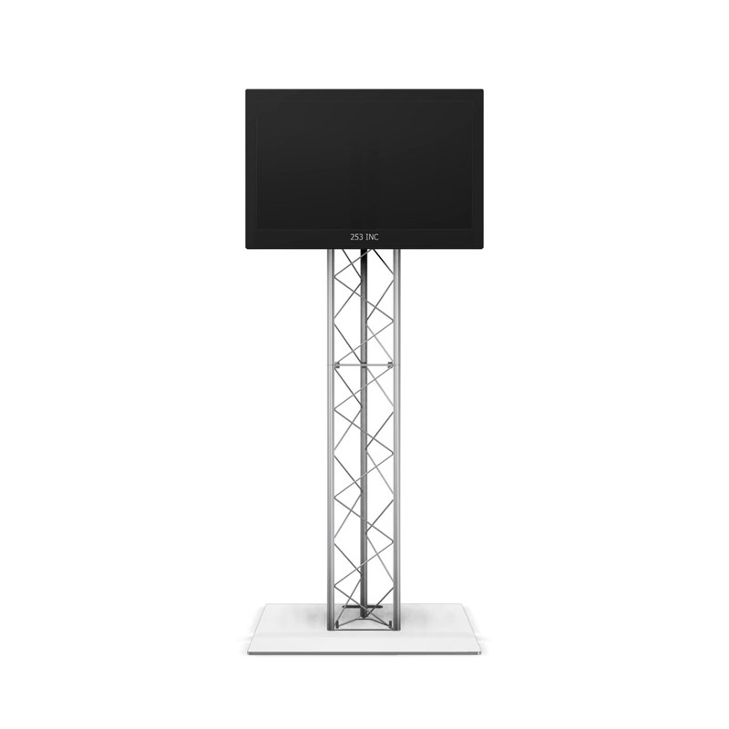 Amazing Elite Triangle TV Stands Within 6ft Ut10 Triangle Truss Monitor Stand With Tv Mount (Image 1 of 50)