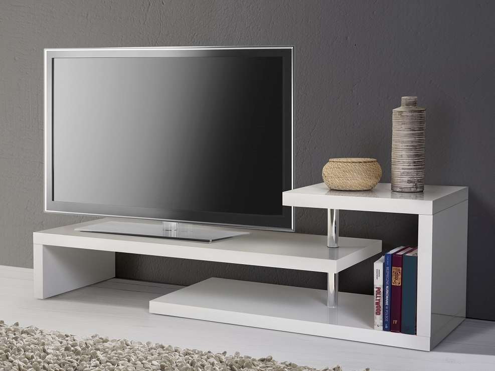 Amazing Elite White Contemporary TV Stands Regarding Tv Stands Contemporary Tv Stands 50 Inch Flat Screen Corner Tv (Image 3 of 50)