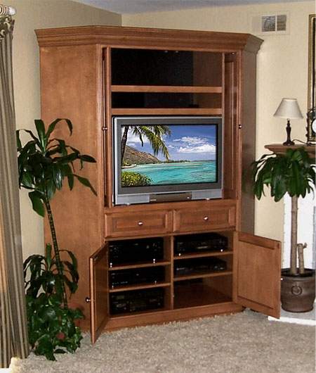 Amazing Elite Wood Corner TV Cabinets Inside Custom Corner Entertainment Center Corner Tv Cabinet Custom (View 15 of 50)