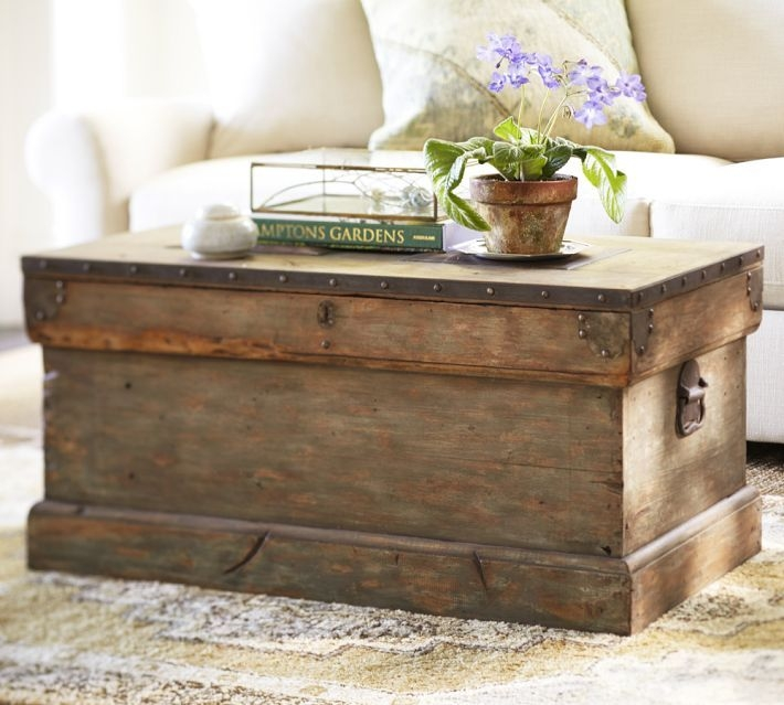 Amazing Famous Antique Glass Pottery Barn Coffee Tables In Best 25 Trunks And Chests Ideas On Pinterest Farmhouse (View 45 of 50)