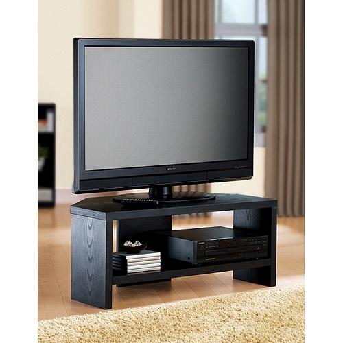 Amazing Famous Black Corner TV Stands For TVs Up To 60 Intended For Awesome Black Corner Tv Stand Rta Large Black Glass Corner Tv (Image 1 of 50)