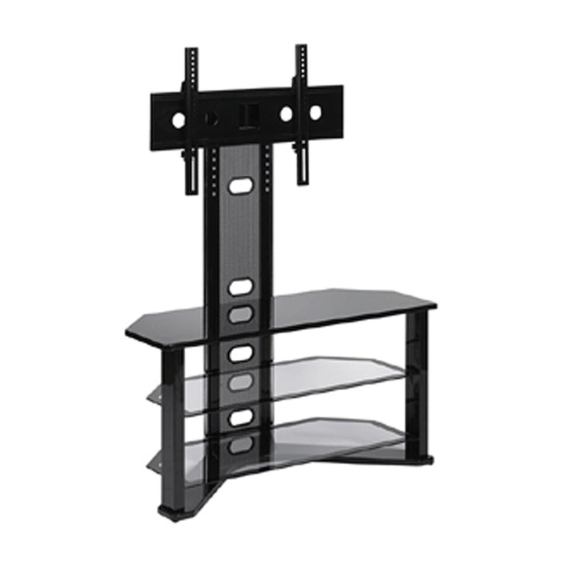 Amazing Famous Corner TV Stands For 50 Inch TV Intended For Z Line Designs Madrid Corner Glass Tv Stand With Integrated Mount (Image 1 of 50)