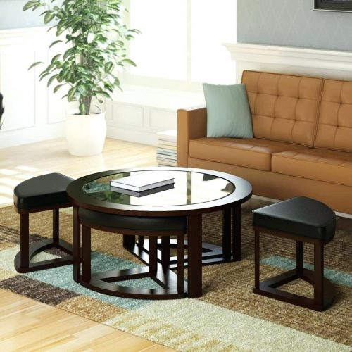 Amazing Famous Cosmo Coffee Tables In Coffee Table Accent Table Round Traditional Espresso Wood Side (View 40 of 50)