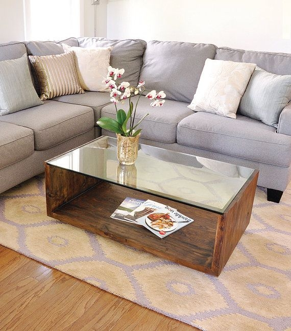 Amazing Famous Dark Wood Coffee Tables With Glass Top Throughout Top 25 Best Modern Coffee Tables Ideas On Pinterest Coffee (Image 1 of 50)