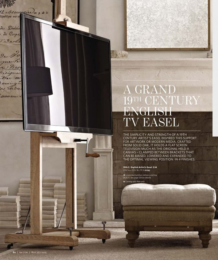 Amazing Famous Easel TV Stands For Flat Screens Within 28 Best Flat Screen Stand Images On Pinterest Tv Stands Easels (View 4 of 50)