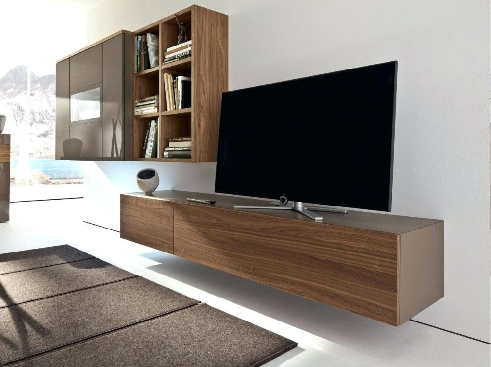 Amazing Famous Full Wall TV Cabinets Pertaining To Floating Tv Wall Mount Flideco (Image 1 of 50)