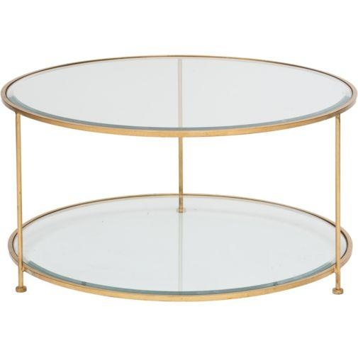 Amazing Famous Glass Gold Coffee Tables Throughout Two Tiered Gold Legs Glass Coffee Table (View 24 of 50)