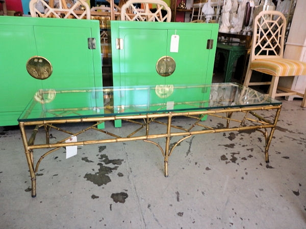 Amazing Famous Gold Bamboo Coffee Tables For Gold Gilt Faux Bamboo Coffee Table Circa Who (View 9 of 50)
