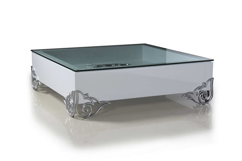 Amazing Famous Lacquer Coffee Tables Pertaining To Modern White Lacquer Coffee Table (Image 2 of 40)
