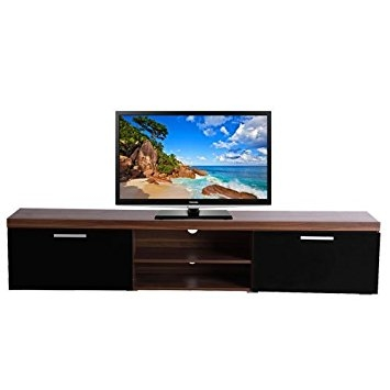 Amazing Famous Long Low TV Cabinets With Regard To Homcom 2 Meter Long 2 Door Modern Tv Cabinet Low Bench Stand (Image 2 of 50)