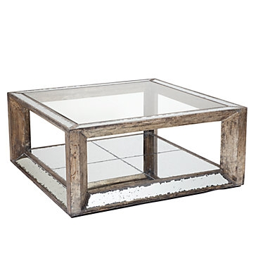 Amazing Famous Mirrored Coffee Tables For Pascual Mirrored Coffee Table Z Gallerie (View 6 of 50)