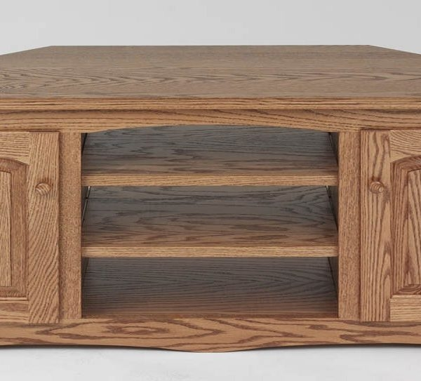 Amazing Famous Oak Corner TV Stands With Country Style Solid Oak Corner Tv Stand Wcabinet 64 The Oak (Image 2 of 50)