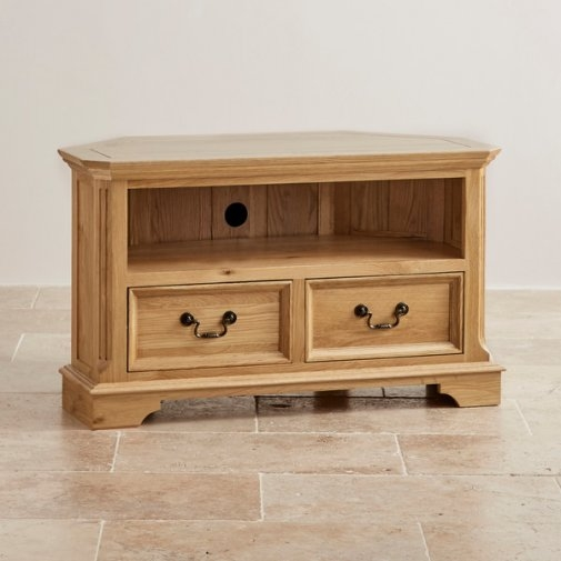 Amazing Famous Oak TV Cabinets Within Edinburgh Tv Cabinet In Natural Solid Oak Oak Furniture Land (Image 3 of 50)