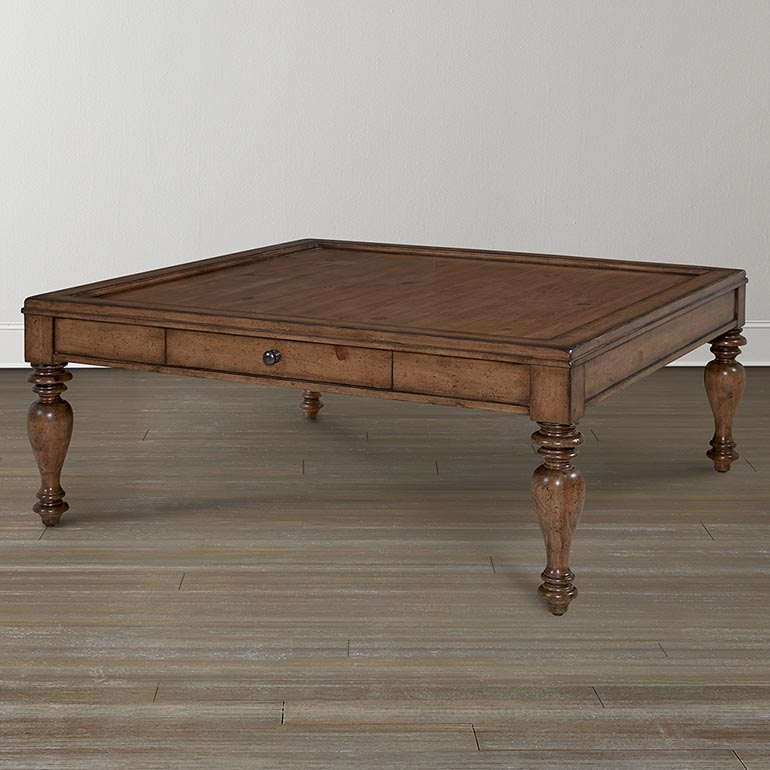 Amazing Famous Pine Coffee Tables Pertaining To Pine Square Coffee Table (Image 3 of 50)