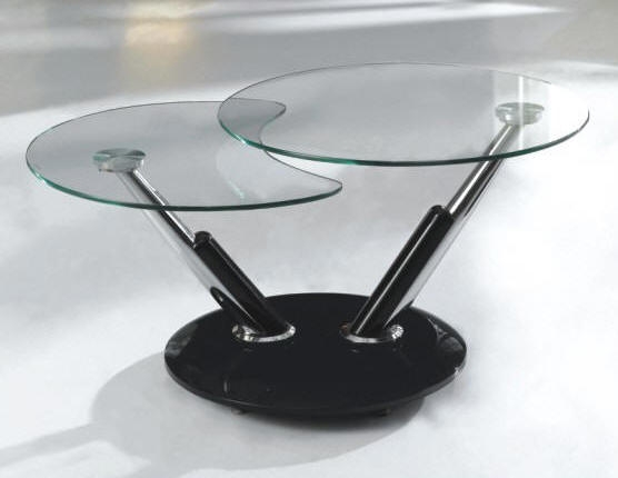 Amazing Famous Revolving Glass Coffee Tables Pertaining To Rotating Twist Coffee Table 14500 With Free Delivery Over  (Image 2 of 40)