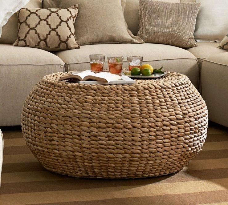 Amazing Famous Round Woven Coffee Tables Regarding Appealing Round Wicker Coffee Table Large Round Wicker Coffee (Image 2 of 50)