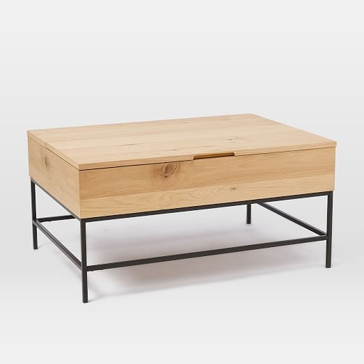 Amazing Famous Storage Coffee Tables For Industrial Storage Coffee Table West Elm (View 20 of 50)
