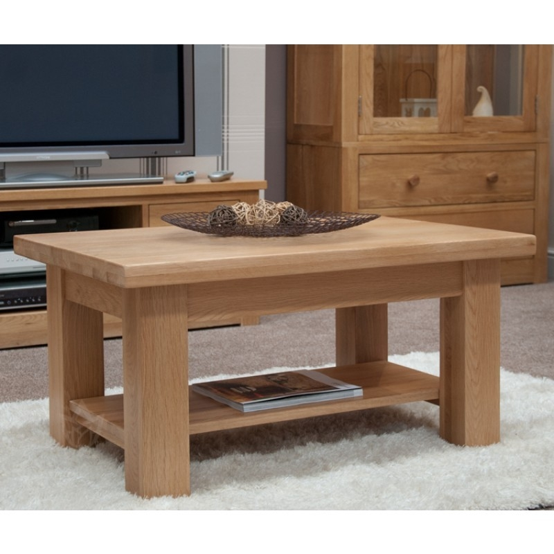 Amazing Famous Torino Coffee Tables Throughout Torino Solid Oak 3ft Coffee Table Furniture4yourhome (Image 2 of 40)