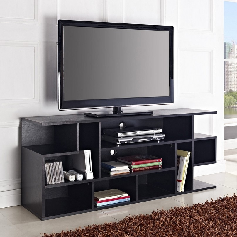Amazing Famous Triangular TV Stands Throughout Tv Stands Modern Corner Flat Panel Tv Stands Wood Closed Back Tv (Image 1 of 50)