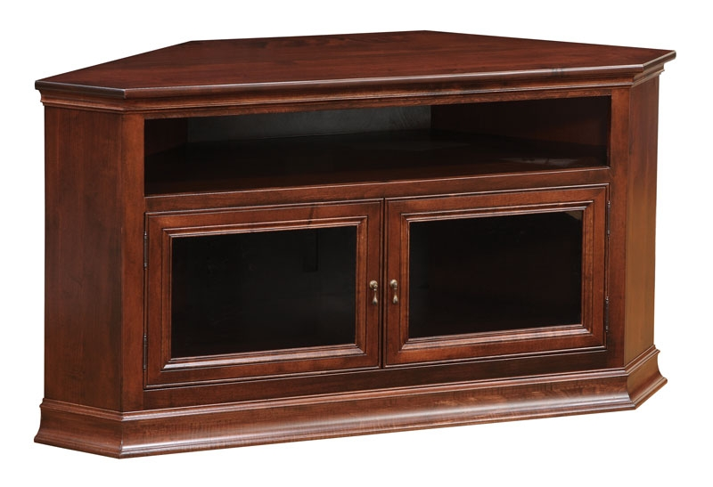 Amazing Famous TV Stands For Corners Throughout Breckenridge 40 Corner Tv Stand Ohio Hardword Upholstered (Image 2 of 50)