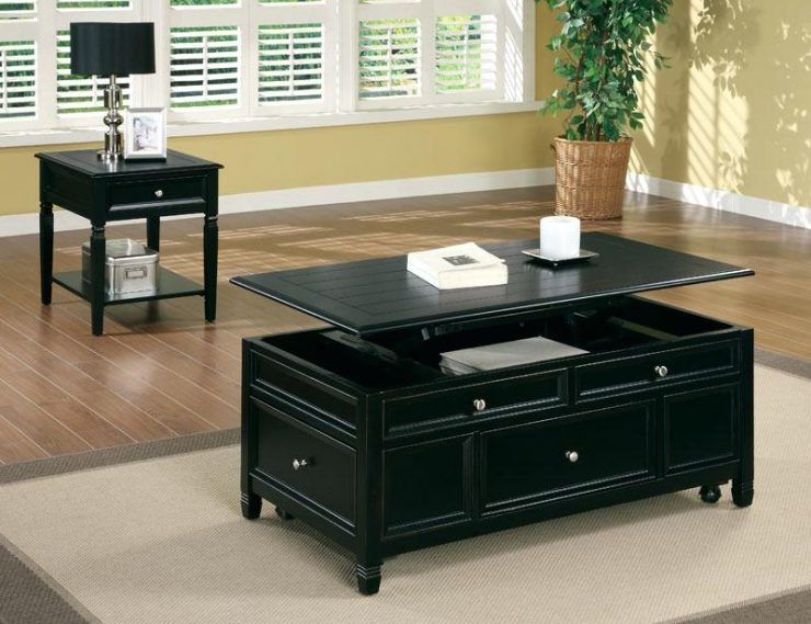 Amazing Fashionable Black Coffee Tables With Storage Throughout Modern Round Marble Top Coffee Table Tag Modern White Coffee (Image 1 of 40)