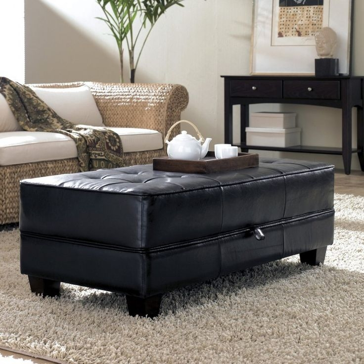Amazing Fashionable Brown Leather Ottoman Coffee Tables With Storages Pertaining To 9 Best Storage Coffee Table Images On Pinterest (Image 1 of 40)