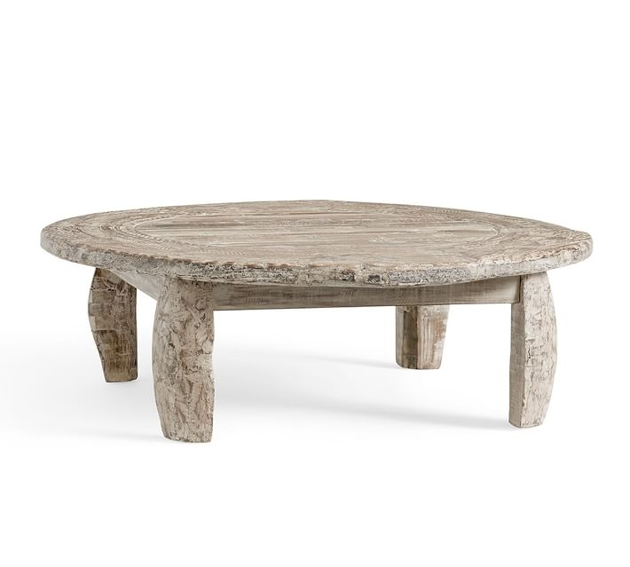 Amazing Fashionable Coffee Tables With Wheels In Bullock Cart Wheel Coffee Table Pottery Barn (View 30 of 40)