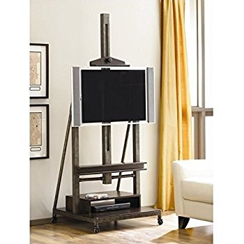 Amazing Fashionable Easel TV Stands For Flat Screens Pertaining To Amazon Hives And Honey Cullen Oak Tv Console Kitchen Dining (View 17 of 50)