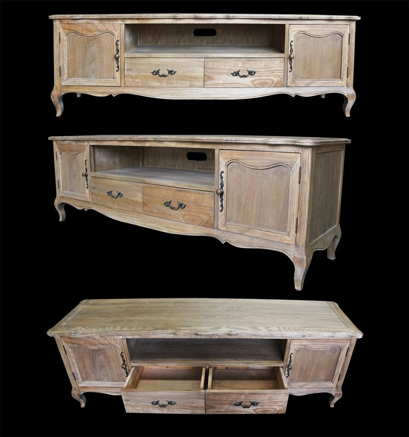 Amazing Fashionable French Style TV Cabinets With French Furniture Provincial Entertainment Unit Tv Stand In Natural (Image 4 of 50)