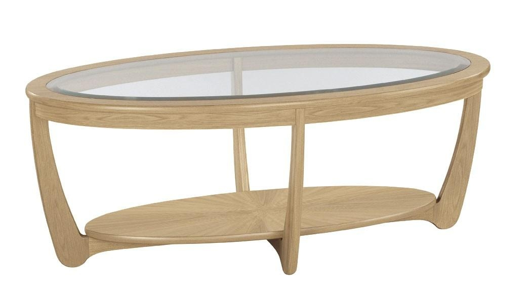 Amazing Fashionable Glass Oak Coffee Tables Intended For Oval Glass Coffee Table Gold Color Oval Glass Coffee Table (Image 2 of 50)