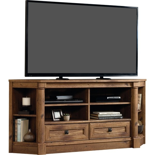 Amazing Fashionable Oak Corner TV Stands For Flat Screens Throughout Shop 149 Corner Tv Stands (Image 4 of 50)