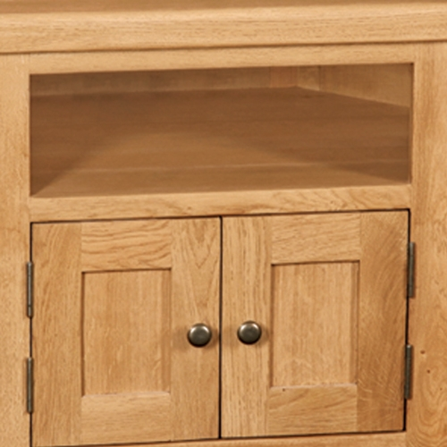 Amazing Fashionable Oak Corner TV Stands Intended For Salisbury Oak Corner Tv Stand Up To 47 Screen (Image 3 of 50)