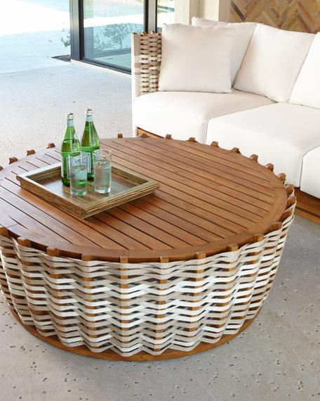 Amazing Fashionable Round Woven Coffee Tables With Regard To Santa Ana Woven Coffee Table (Image 3 of 50)