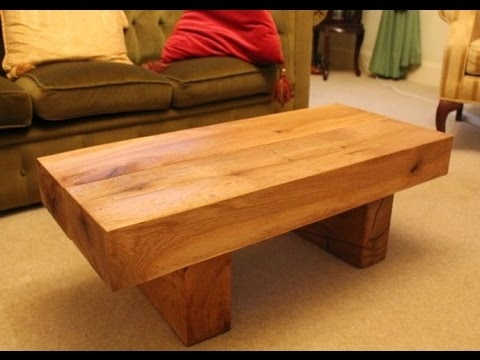 Amazing Fashionable Solid Wood Coffee Tables Within Solid Wood Coffee Table Modern Designs Youtube (Image 2 of 50)