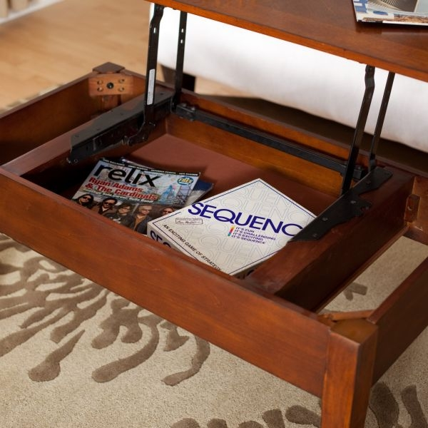 Amazing Fashionable Top Lifting Coffee Tables Intended For Lift Top Coffee Table Offer An Element Of Surprise Modern Home (Image 1 of 48)