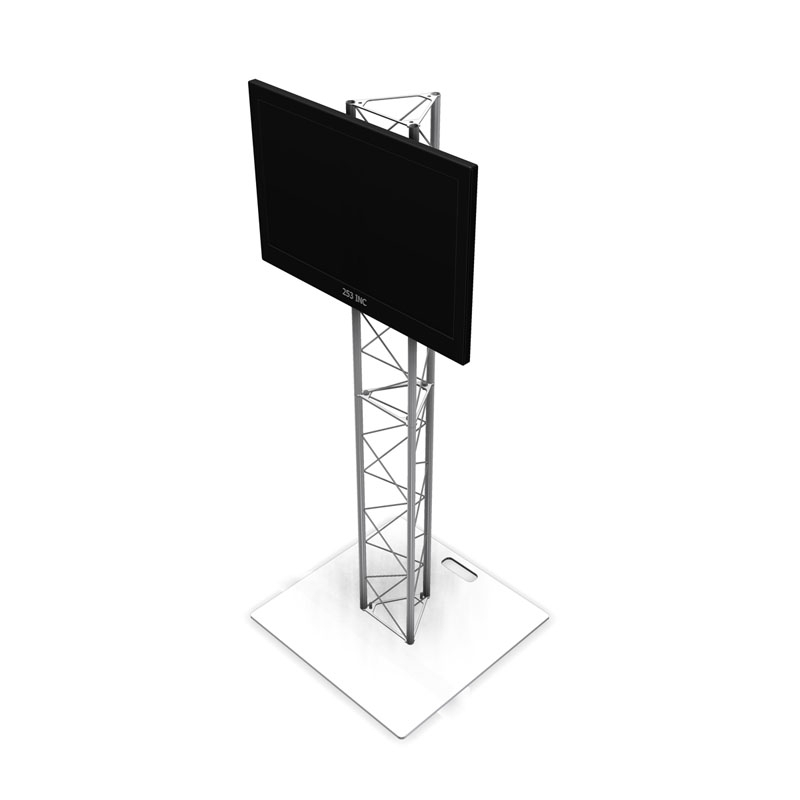 Amazing Fashionable Triangle TV Stands With Regard To 6ft Ut10 Triangle Truss Monitor Stand With Tv Mount (Image 3 of 50)