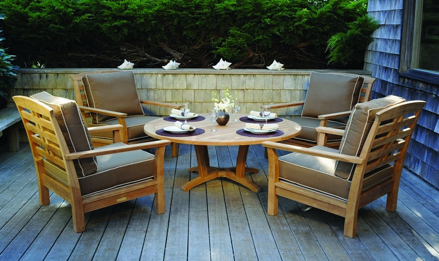 Amazing Fashionable Wooden Garden Coffee Tables Within Traditional Coffee Table Wooden Round Garden Chat (Image 2 of 50)