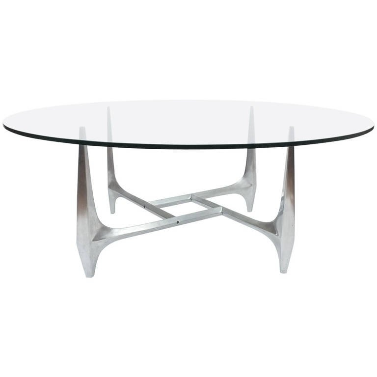 Amazing Favorite Aluminium Coffee Tables Pertaining To Large Sculptural Aluminium Coffee Table Knut Hesterberg For (Image 1 of 50)