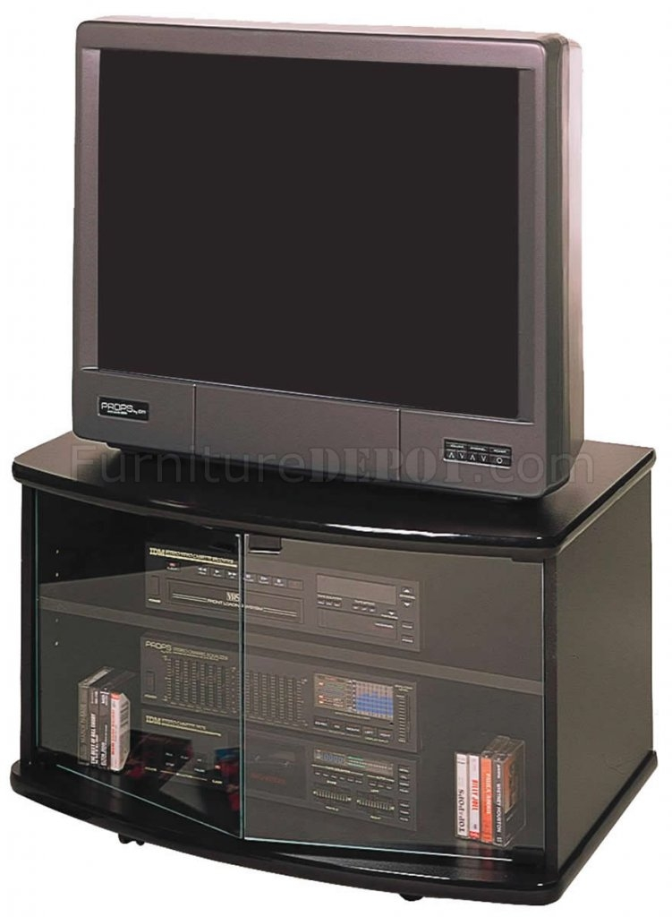 Amazing Favorite Black TV Stands With Glass Doors Throughout Black Tv Stand With Glass Doors (Image 2 of 50)