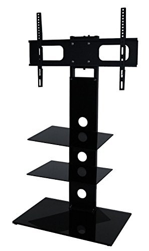 Amazing Favorite Cantilever TV Stands With Regard To Two Shelf Cantilever Tv Stand With Swivel For 27 50 Amazonco (Image 1 of 50)