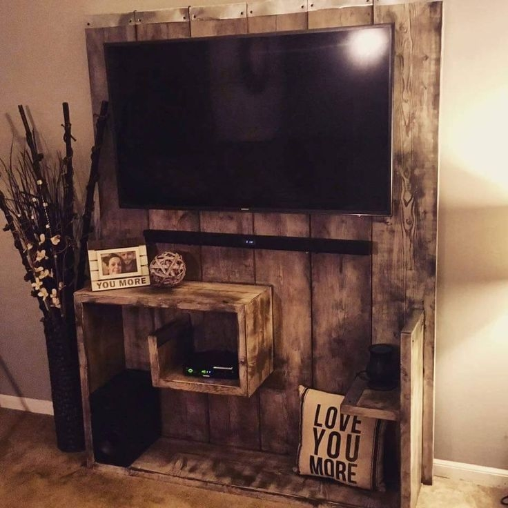 Amazing Favorite Cheap Oak TV Stands Within Best 25 Pallet Tv Stands Ideas Only On Pinterest Rustic Tv (Image 3 of 50)