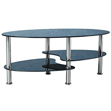 Amazing Favorite Coffee Tables With Chrome Legs In Cara Black Glass Coffee Table With Chrome Legs Amazoncouk (Image 2 of 50)